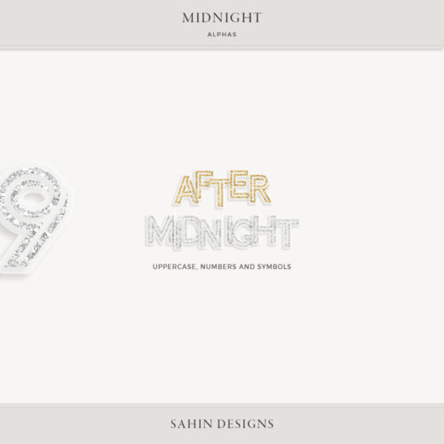Midnight Digital Scrapbook Alphas - Sahin Designs