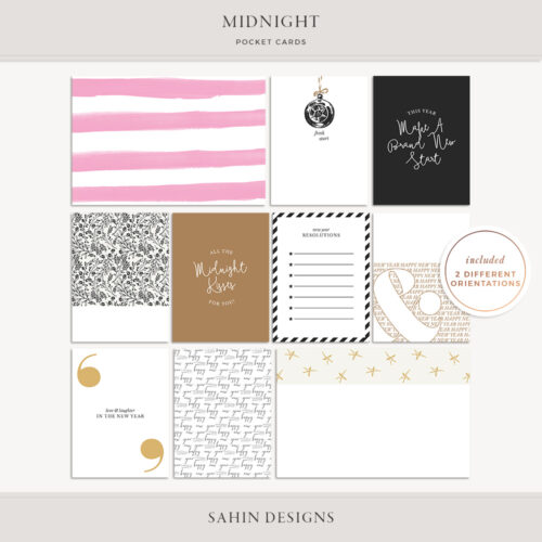 Midnight Printable Pocket Cards - Sahin Designs