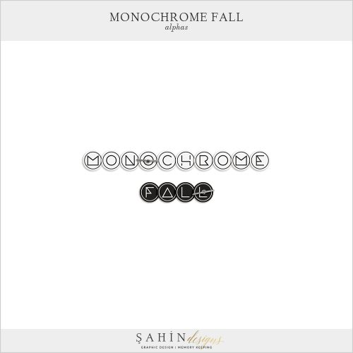 Monochrome Fall Digital Scrapbook Alphas by Sahin Designs. Click to download the kit. Pin & save for later!