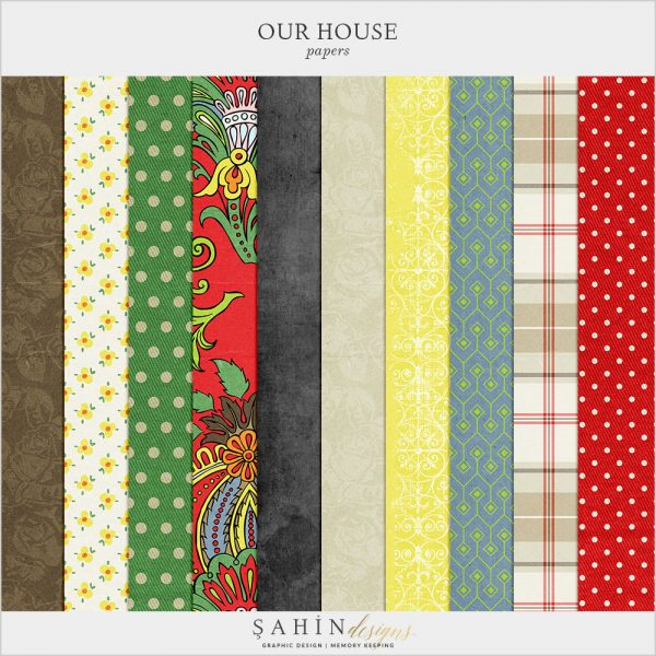 Our House-Garden Digital Scrapbook Papers by Sahin Designs. Click to download the kit. Pin & save for later!