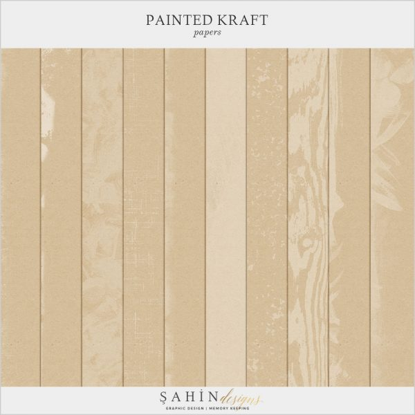 Painted Digital Scrapbook Kraft Papers by Sahin Designs. Click to download the kit. Pin & save for later!