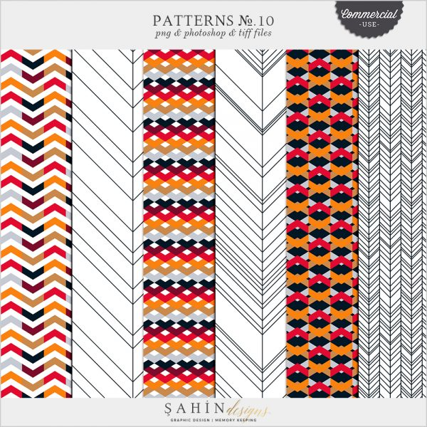 Patterns No.10 by Sahin Designs. Commercial Use Digital Scrapbook Supplies. Click to download the kit. Pin & save for later!