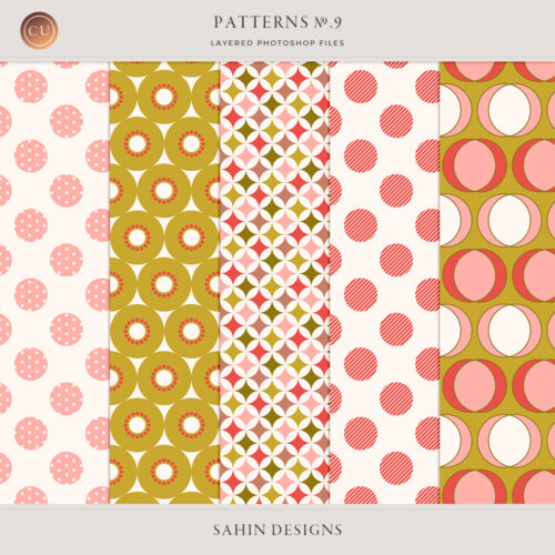 Patterns No.9 by Sahin Designs. Commercial Use Digital Scrapbook Supplies. Click to download the kit. Pin & save for later!