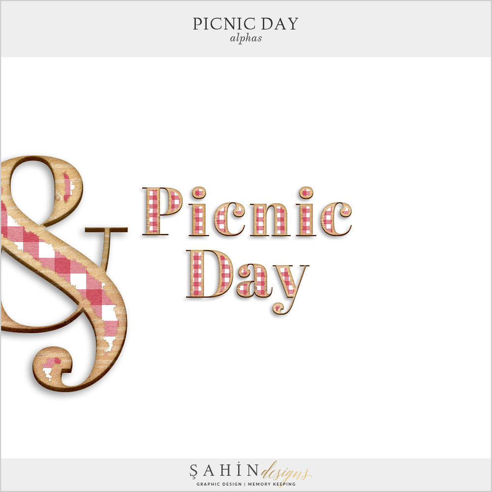 Picnic Day Digital Scrapbook Alphas by Sahin Designs. Click to download the kit. Pin & save for later!