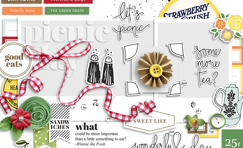 Picnic Day Digital Scrapbook Collection by Sahin Designs. Click to download the kit. Pin & save for later!