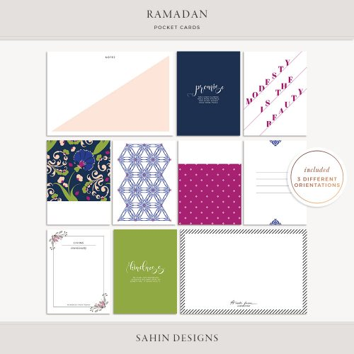 Ramadan Printable Pocket Cards - Sahin Designs