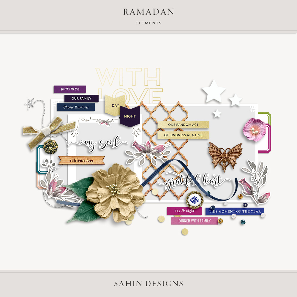 Ramadan Digital Scrapbook Elements - Sahin Designs