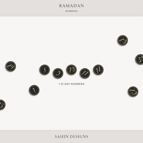 Ramadan Digital Scrapbook Numbers - Sahin Designs