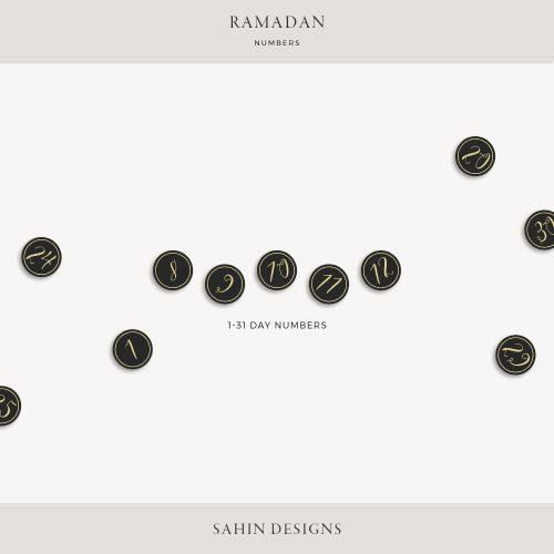Ramadan Digital Scrapbook Numbers - Sahin Designs