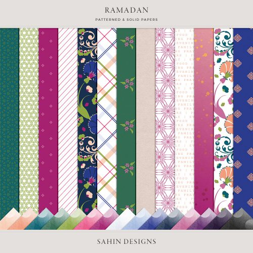 Ramadan Digital Scrapbook Papers - Sahin Designs
