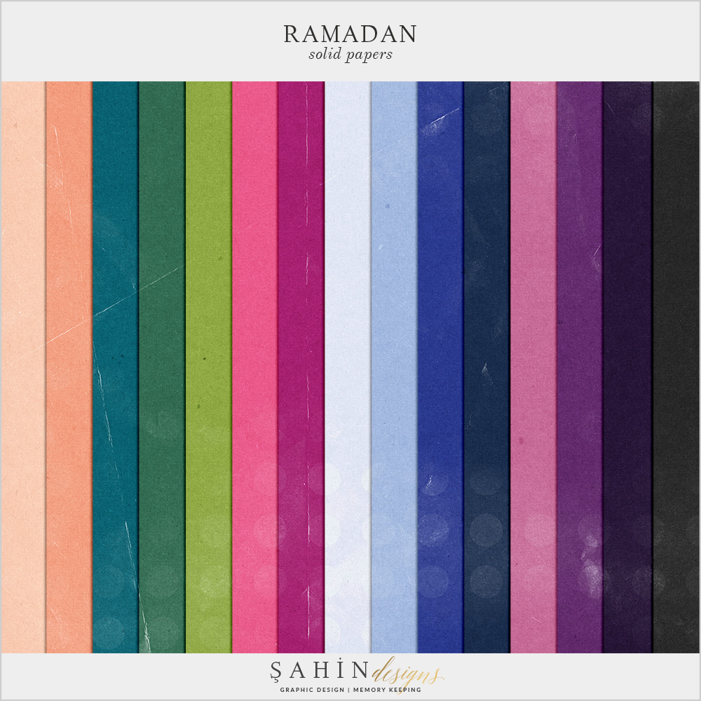 Ramadan Digital Scrapbook Papers by Sahin Designs. Click to download the kit. Pin & save for later!