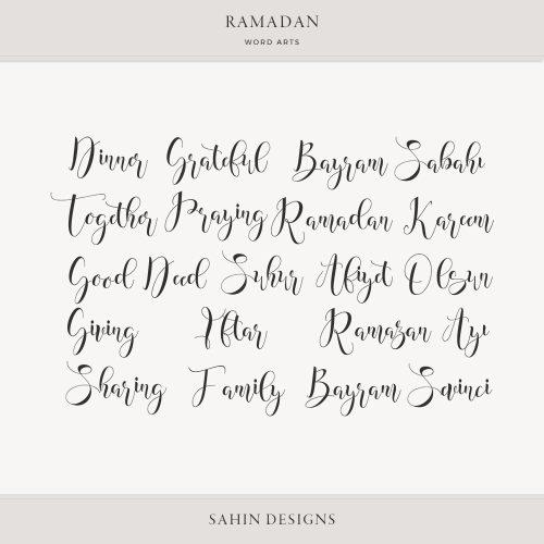 Ramadan Digital Scrapbook Word Arts - Sahin Designs
