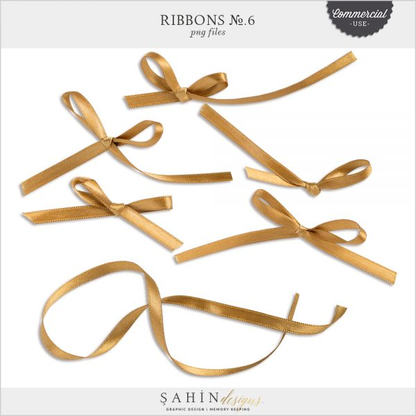 Ribbons No.6 by Sahin Designs. Commercial Use Digital Scrapbook Supplies. Click to download the kit. Pin & save for later!