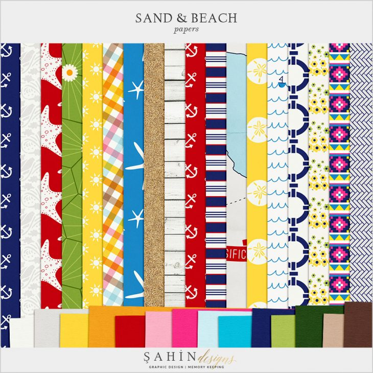 Sand & Beach Digital Scrapbook Papers by Sahin Designs. Click thru to download. Pin & save for later!