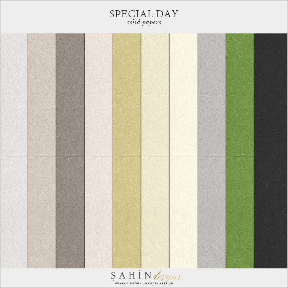 Special Day Digital Scrapbook Solid Papers by Sahin Designs. Click to download the kit. Pin & save for later!