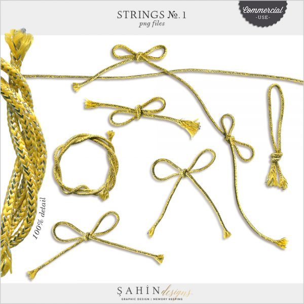 Strings No.1 by Sahin Designs. Commercial Use Digital Scrapbook Supplies. Click to download the kit. Pin & save for later!