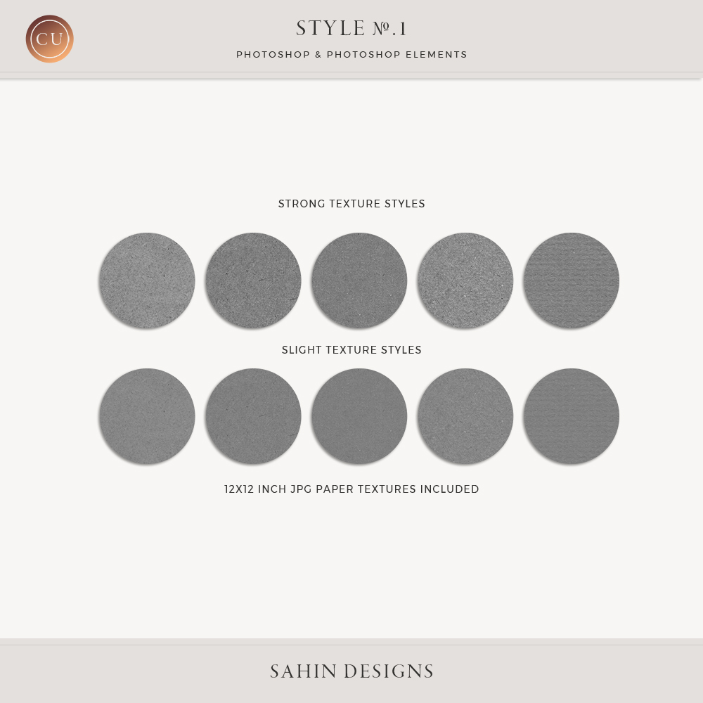 Style No.1, Photoshop Paper Textures by Sahin Designs