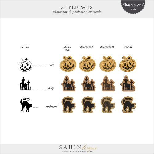 Sticker Photoshop Layer Styles by Sahin Designs. Commercial Use Digital Scrapbook Supplies. Click to download the kit. Pin & save for later!