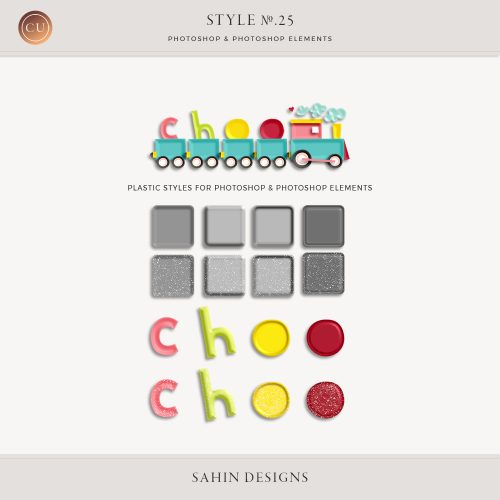 Plastic Photoshop Layer Styles by Sahin Designs. Commercial Use Digital Scrapbook Supplies. Click to download the kit. Pin & save for later!