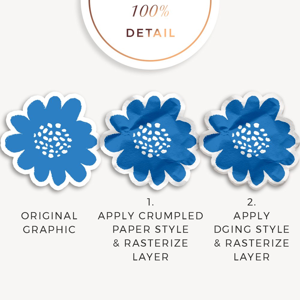 Crumpled Paper Photoshop Layer Styles by Sahin Designs. Commercial Use Digital Scrapbook Supplies. Click to download the kit. Pin & save for later!
