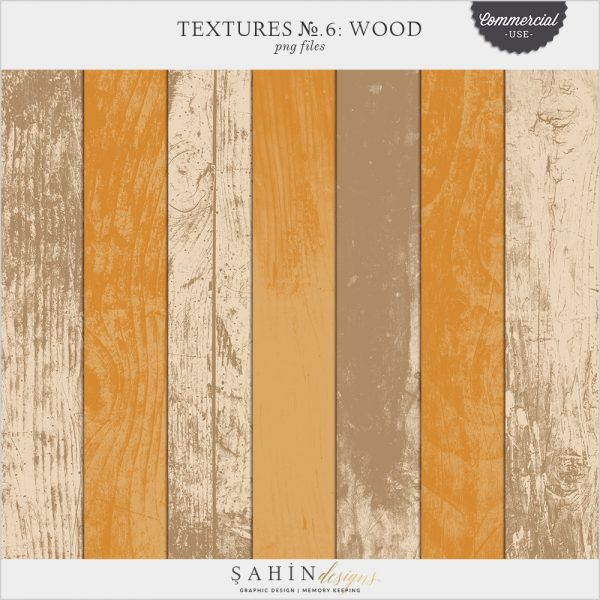 Textures No.6: Wood by Sahin Designs. Commercial Use Digital Scrapbook Supplies. Click to download the kit. Pin & save for later!