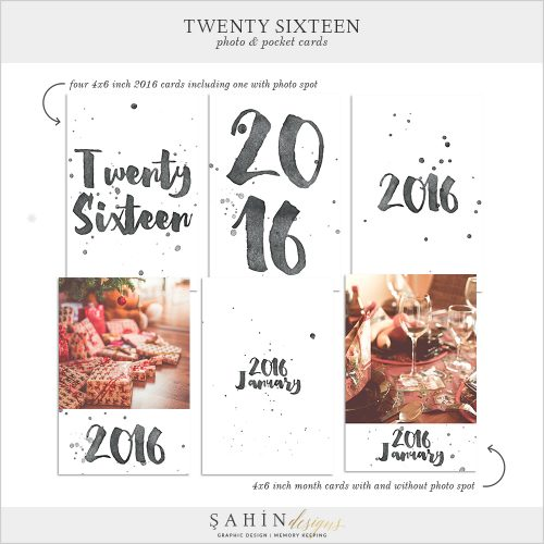 Twenty Sixteen Printable Photo and Pocket Cards by Sahin Designs. Click to download the kit. Pin & save for later!