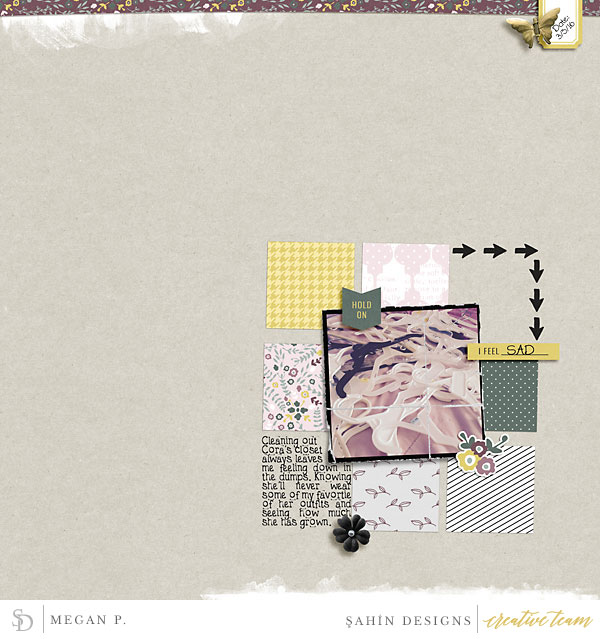 Digital scrapbook layout using Bad Day collection by Sahin Designs. Click thru to see more inspirations. Pin & save for later!