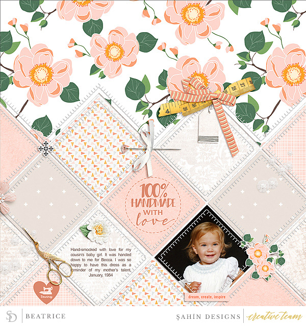 Digital scrapbook layout using Crafty Fingers collection by Sahin Designs. Click thru to see more inspirations. Pin & save for later!