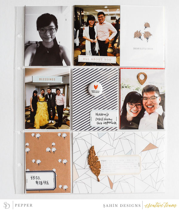 Hybrid Pocket scrapbook layout using Drift Off collection by Sahin Designs. Click thru to see more inspirations. Pin & save for later!