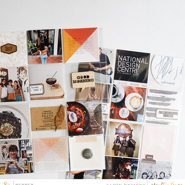 Hybrid Pocket scrapbook layout using Fireside collection by Sahin Designs. Click thru to see more inspirations. Pin & save for later!