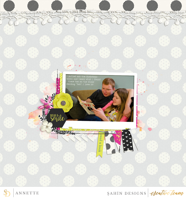 Digital scrapbook layout using Good Day collection by Sahin Designs. Click thru to see more inspirations. Pin & save for later!