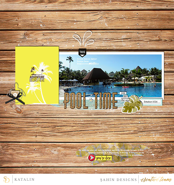 Digital scrapbook layout using Hawaiian Paradise collection by Sahin Designs. Click thru to see more inspirations. Pin & save for later!