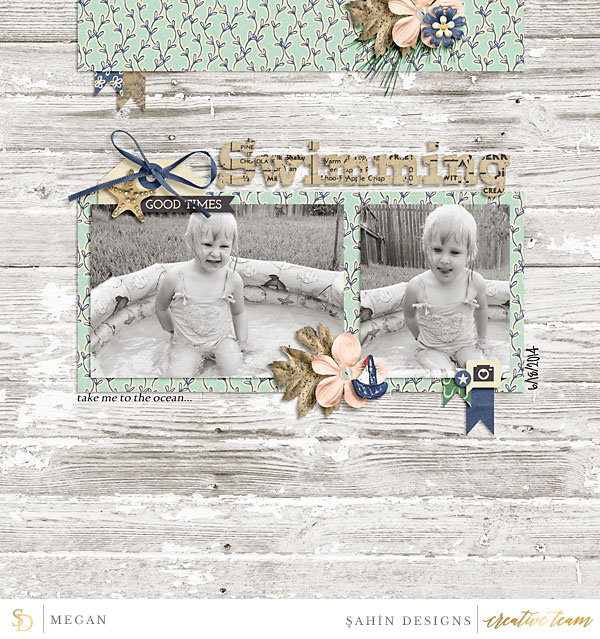Digital scrapbook layout using Joyful Noises collection by Sahin Designs. Click thru to see more inspirations. Pin & save for later!