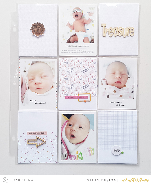 Hybrid Pocket scrapbook layout using Luminary collection by Sahin Designs. Click thru to see more inspirations. Pin & save for later!