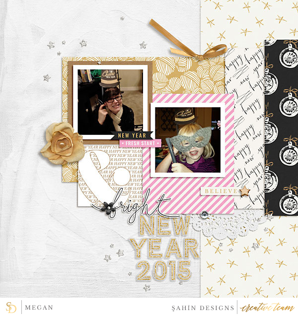 Digital scrapbook layout using Midnight collection by Sahin Designs. Click thru to see more inspirations. Pin & save for later!