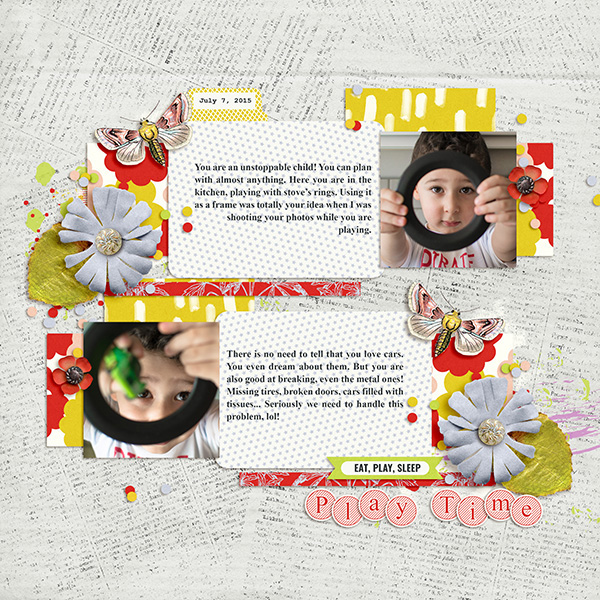 Digital scrapbook layout using Mood Diary collection by Sahin Designs. Click thru to see more inspirations. Pin & save for later!
