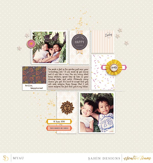 Digital scrapbook layout using Luminary collection by Sahin Designs. Click thru to see more inspirations. Pin & save for later!