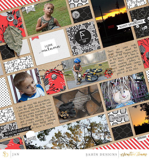 Digital scrapbook layout using October 2015 Layout Templates by Sahin Designs. Click thru to see more inspirations. Pin & save for later!