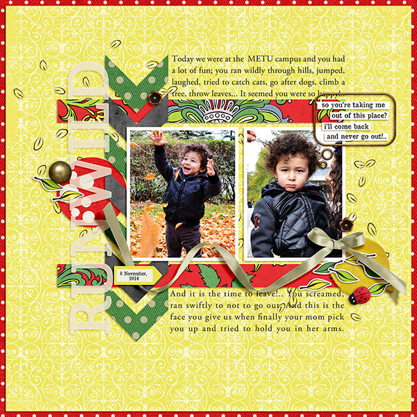 Digital scrapbook layout using Our House collection by Sahin Designs. Click thru to see more inspirations. Pin & save for later!