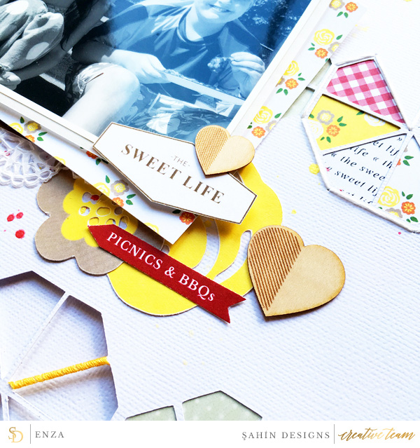 Hybrid scrapbook layout using Picnic Day collection by Sahin Designs. Click thru to see more inspirations. Pin & save for later!