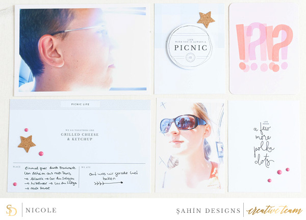 Hybrid pocket scrapbook layout using Picnic Day collection by Sahin Designs. Click thru to see more inspirations. Pin & save for later!