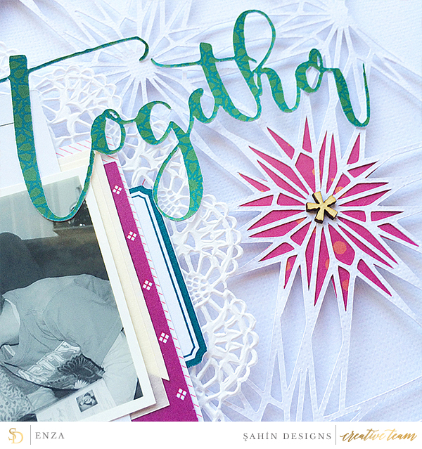 Hybrid scrapbook layout using Ramadan collection by Sahin Designs. Click thru to see more inspirations. Pin & save for later!