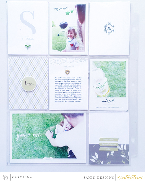 Hybrid Pocket scrapbook layout using Special Day collection by Sahin Designs. Click thru to see more inspirations. Pin & save for later!