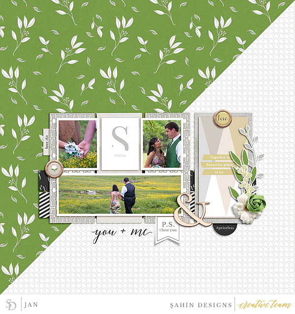 Digital scrapbook layout using Special Day collection by Sahin Designs. Click thru to see more inspirations. Pin & save for later!