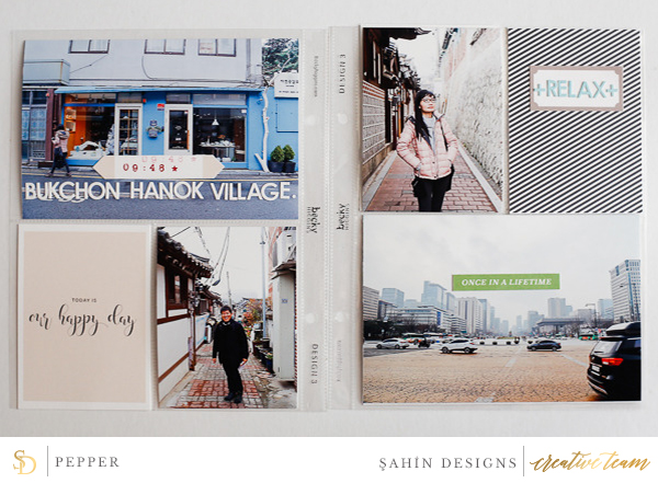 Hybrid pocket scrapbook layout on Sahin Designs using Special Day digiscrap collection. Click through to have a look at all May creative gallery!