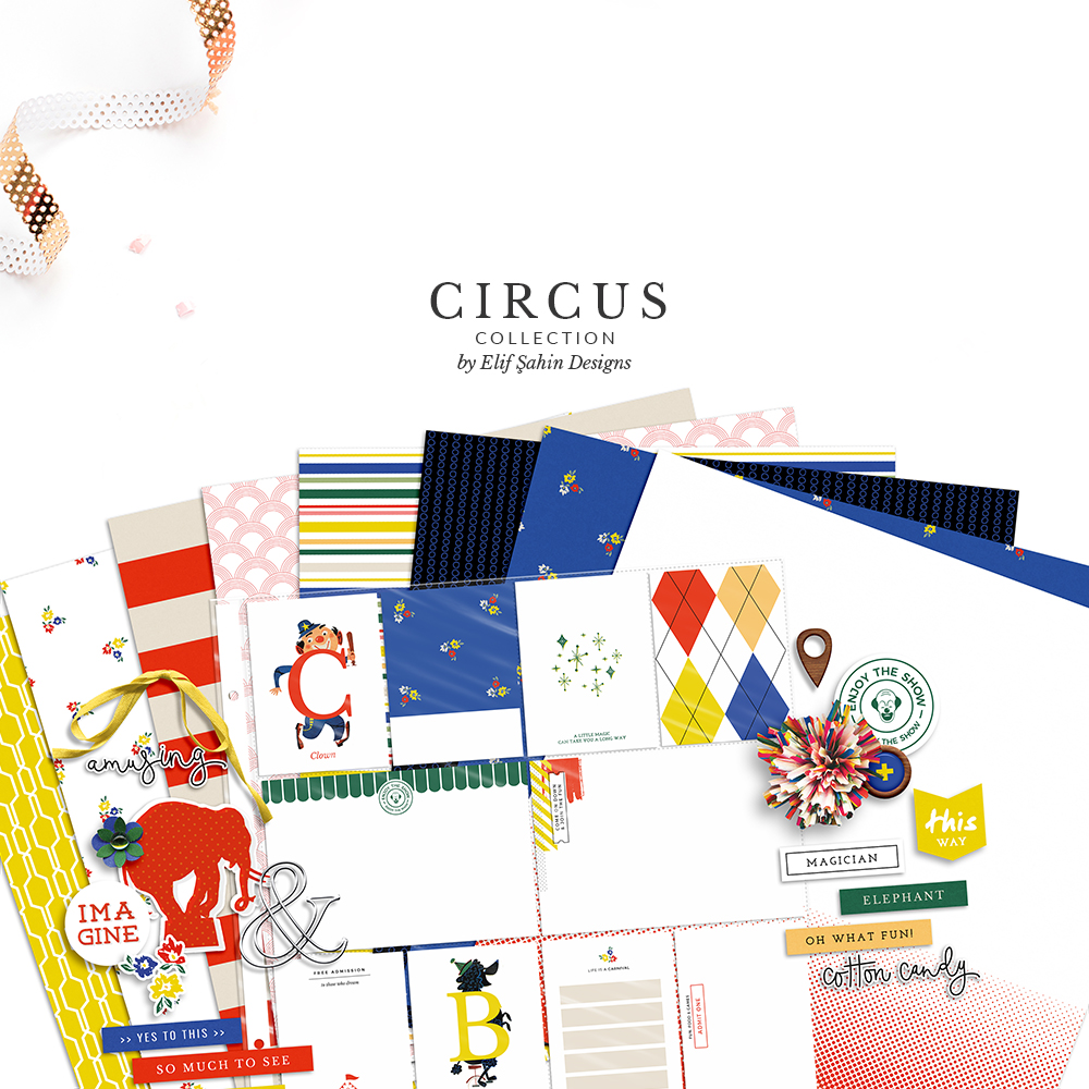 Circus Digital Scrapbook Collection by Sahin Designs. Click to download. Pin & save for later!