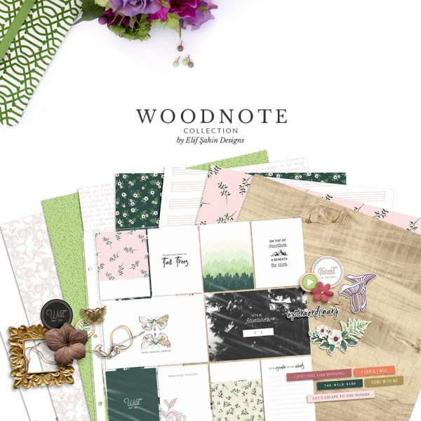 Woodnote Digital Scrapbook Collection by Sahin Designs. Click to download. Pin & save for later!