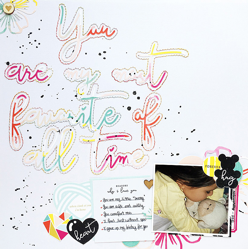 How to Stitch on a Scrapbook Layout on Sahin Designs blog. Did you know that your Silhouette Cameo can help you more than you think? Even with stitching?.. Click to learn an easy way to have excellent stitching on your scrapbook layout. Pin and save for later!