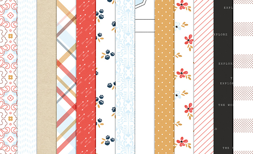 Shop Update | Jaunt Collection Papers and August Layout Templates & Dollar Deals