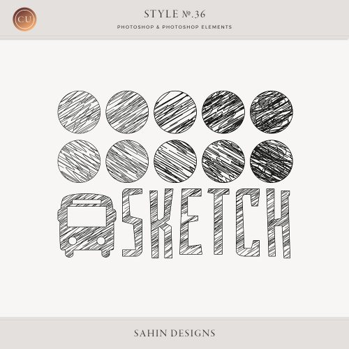 Sketch Photoshop Layer Styles by Sahin Designs. Commercial Use Digital Scrapbook Supplies. Click to download the kit. Pin & save for later!